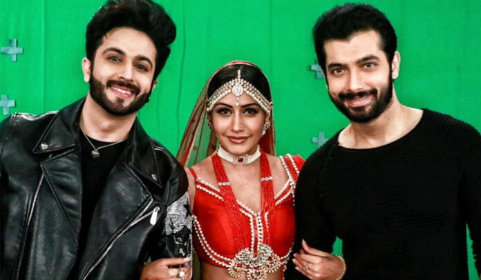 Naagin 5: Sharad Malhotra and Dheeraj Dhoopar are twinning in black while Surbhi Chandna slays in red bridal lehenga