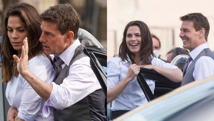 Tom Cruise, Hayley Atwell film a gritty action scene in BTS 'Mission Impossible 7' video