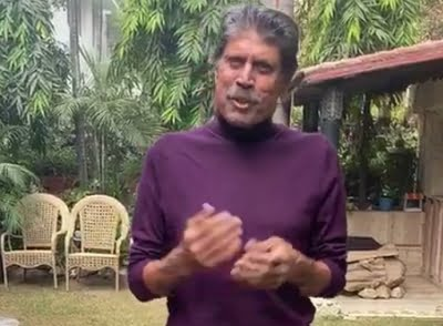 A beaming Kapil Dev says 'feeling good' in video post angioplasty