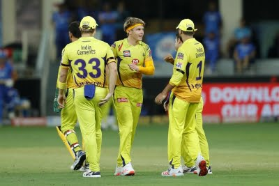 CSK hammers RCB by eight wickets (Lead)