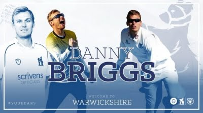 Warwickshire sign Danny Briggs from Sussex