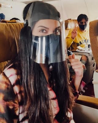 Diana Penty posts pics of flying in the time of Covid