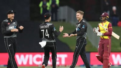 Final T20I abandoned due to rain, NZ win series 2-0 against WI