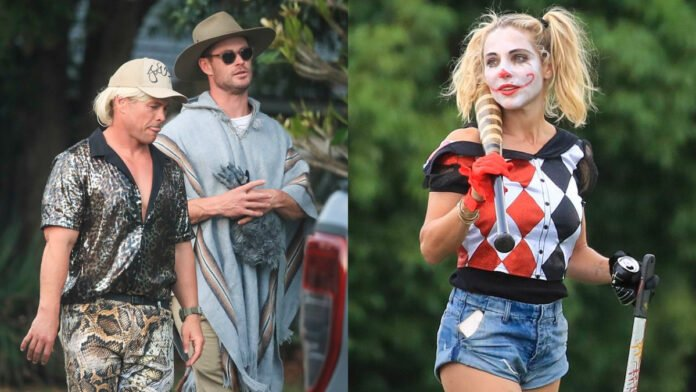 Chris Hemsworth and wife Elsa Pataky go 'trick or treating' wearing Halloween costumes