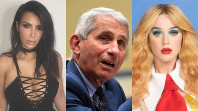 Kim Kardashian, Katy Perry, and others spoke with Dr. Anthony Fauci via private Zoom call