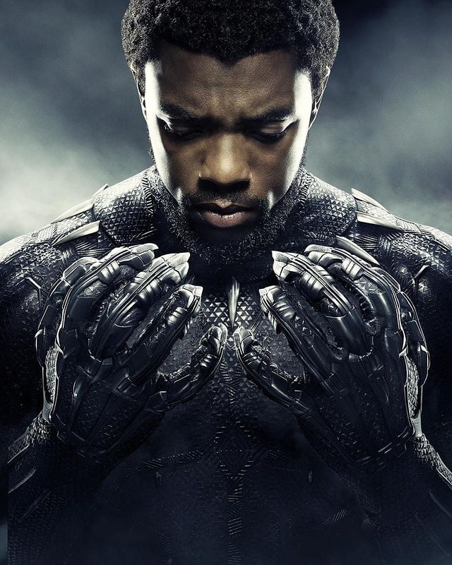 Late Chadwick Boseman as Black Panther in an instagram post