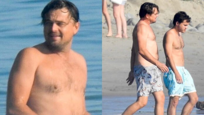 Leonardo DiCaprio enjoys day at the beach with old pal Emile Hirsch
