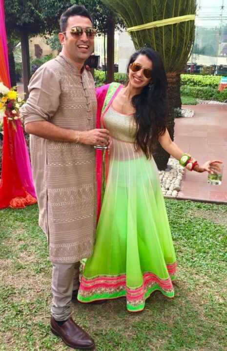 Pranitaa Pandit with brother
