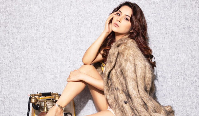 Shehnaaz Gill nails in a feathered coat with glamorous pictures