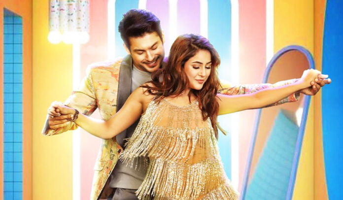 Shona Shona poster Sidharth Shukla and Shehnaaz Gill holding hands and flaunting their sizzling dance moves