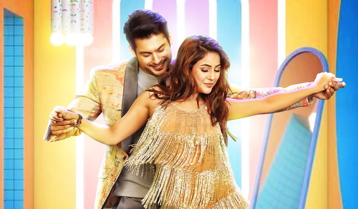 Shona Shona poster: Sidharth Shukla and Shehnaaz Gill holding hands and flaunting their sizzling dance moves