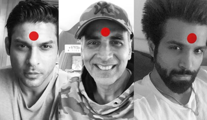 Sidharth Shukla, Rithvik Dhanjani and others share Laal Bindi picture for Akshay Kumar's Laxmii campaign
