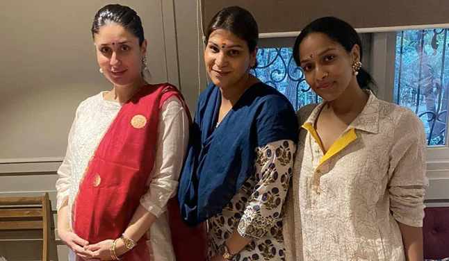 Diwali 2020: Kareena Kapoor Khan's mini Diwali celebration in a white suit and red duppata also flaunting her baby bump in style