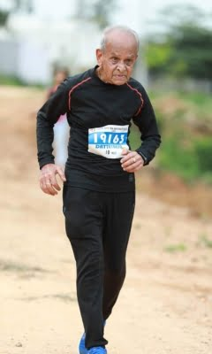 Want to be role model for youngsters, says 92-year-old runner