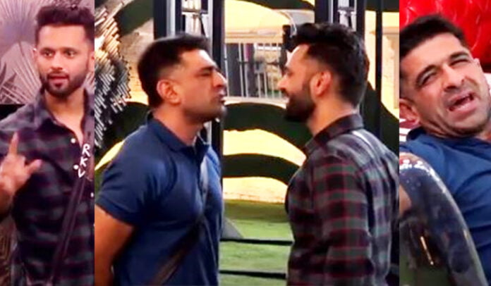 Bigg Boss 14 Rahul Vaidya says 'Don't touch my hand' to Eijaz Khan again engage in ugly fight . Whom do you support
