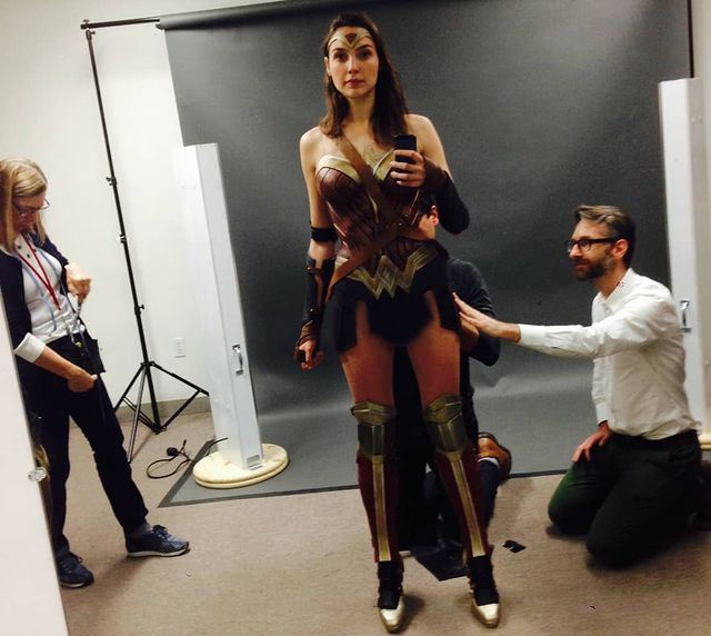 Gal Gadot at her first Wonder Woman 1984 fitting session - in an instagram post