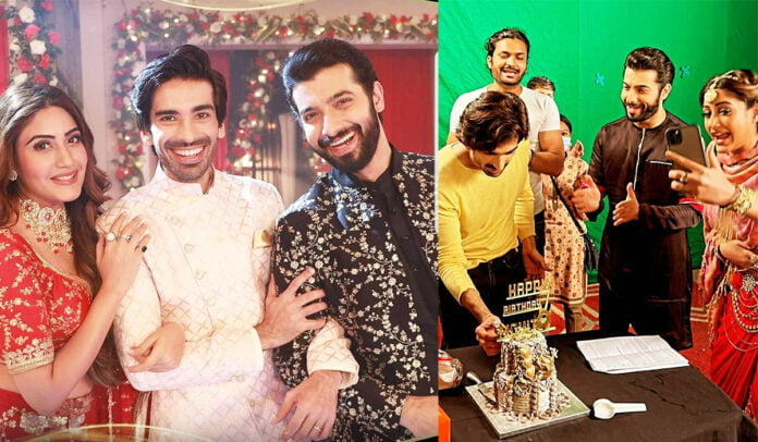 Naagin 5: Mohit Sehgal celebrates his birthday on the sets with Sharad Malhotra and Surbhi Chandna
