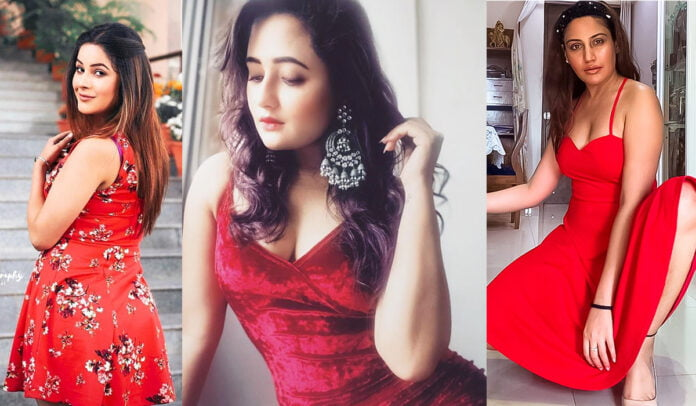 Shehnaaz Gill, Rashami Desai, Surbhi Chandna and others who rocked the red dress for Christmas Party season