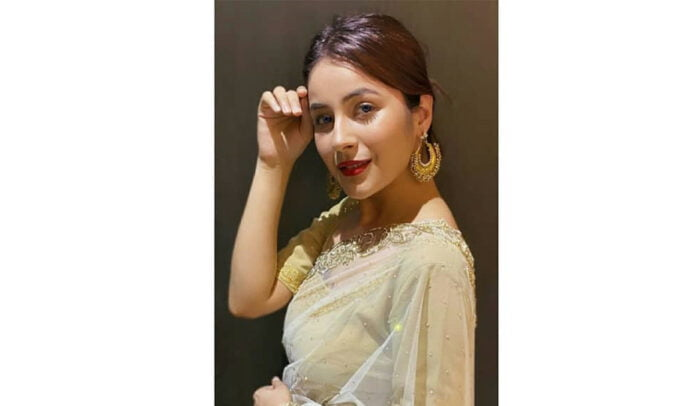 Shehnaaz Gill looks flawless as she nails in golden saree
