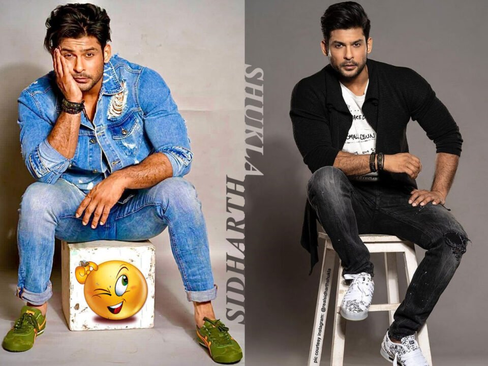 Sidharth Shukla sports a handsome look in a black jacket with white t-shirt and jeans