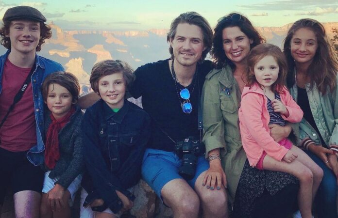 Taylor Hanson and wife Natalie welcome their 7th child.