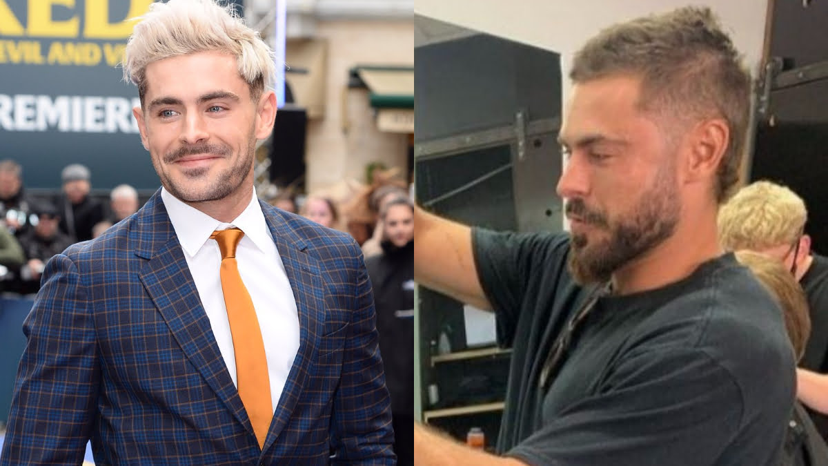 Zac Efron Debuts New Mini-Mullet Hair Look