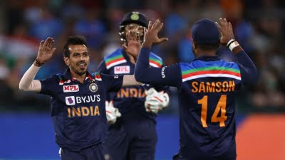 Concussion sub Chahal's 3-wicket haul helps India win first T20I