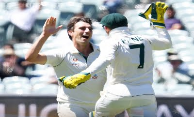 Australia win 1st Test after shooting India out for 36 (3rd Ld)