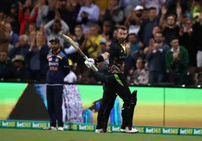 3rd T20I: Wade, Maxwell power Australia to 186/5 against India