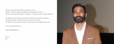 Dhanush to star in 'The Gray Man'
