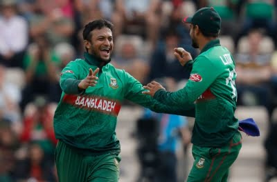 Shakib with 4 for 8 bowls out Windies for 122