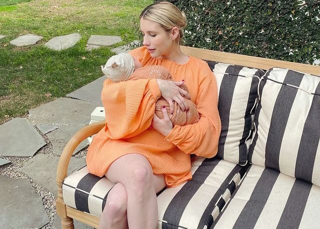 Emma Roberts with her baby (pic courtesy: instagram)
