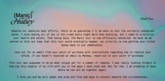 Halsey cancels tour, says safety is priority