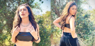Naagin 5 Surbhi Chandna ditches her saree look and slay in all black crop top and pants