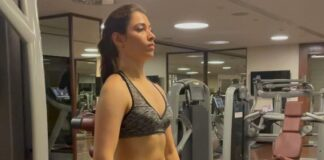 Tamannaah Bhatia in her workout routine