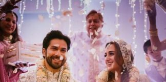 Varun Dhawan with Natasha Dalal wedding pic