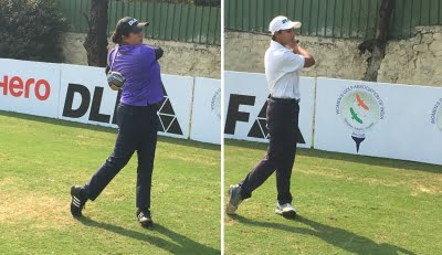 Women's golf: Amandeep, Hitaashee share lead after Rd 1 in 4th leg