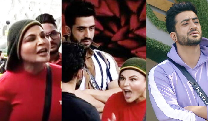 Bigg Boss 14 Aly Goni and Rakhi Sawant get into an ugly argument