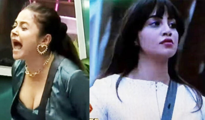Bigg Boss 14 Devoleena Bhattacharjee loses control and throws stuff at Arshi Khan
