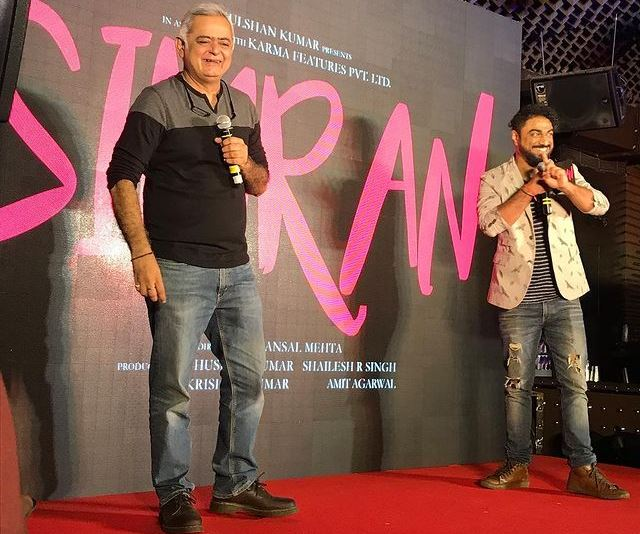 Director Hansal Mehta on stage at Simran's #SingleRehneDe song launch!
