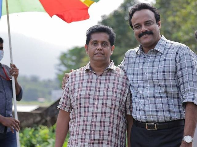Drishyam director Jeethu Joseph on the sets in an instagram post