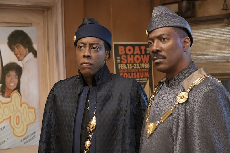 Arsenio Hall and Eddie Murphy star in COMING 2 AMERICA  Photo Courtesy of Amazon Studios