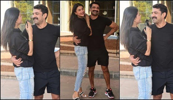 Eijaz Khan and Pavitra Punia candid on camera