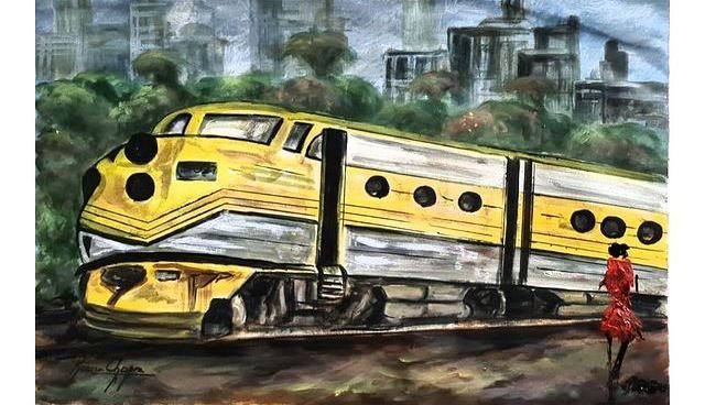 Painting inspired by The Girl On The Train