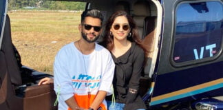 Rahul Vaidya takes Disha Parmar on a chopper ride for a vacation