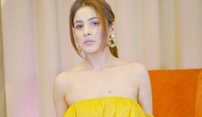 Shehnaaz Gill looking bright in yellow outfit