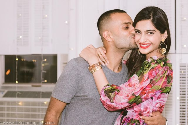 Sonam Kapoor with Anand Ahuja photo credit instagram