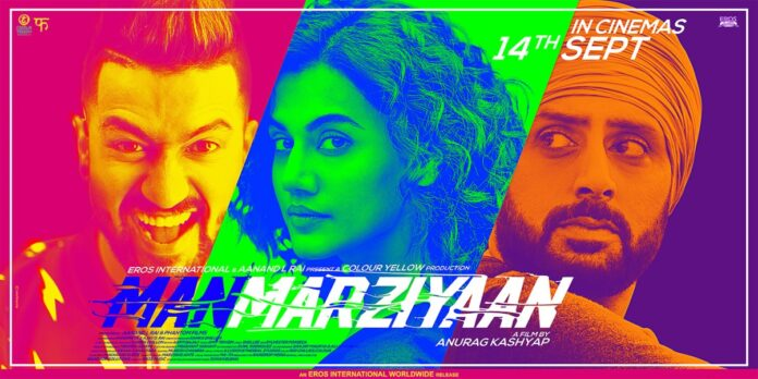 Taapsee Pannu in Anurag Kashyap's Manmarziyaan poster