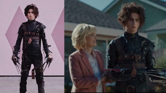 Timothee Chalamet as Edgar Scissorhands in new Super Bowl ad will blow your mind