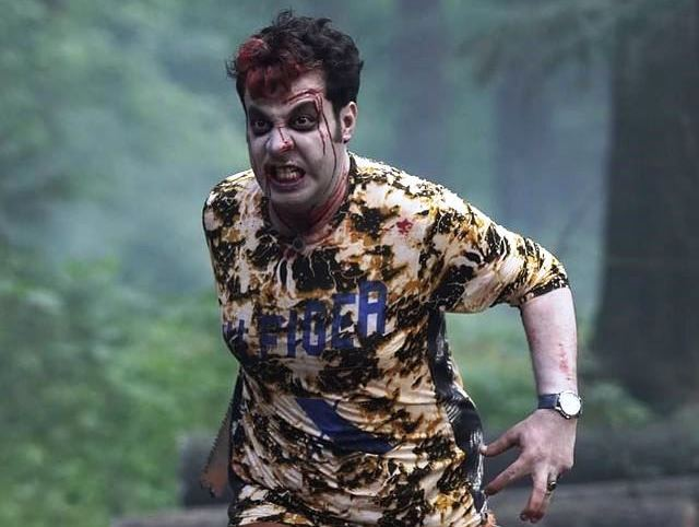 Varun Sharma sporting flaming red hair spooky with blood running down his face